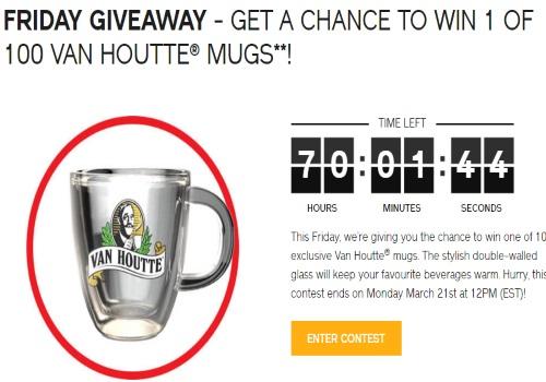 Keurig Van Houtte Mug Giveaway