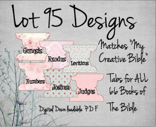 Creatively Rosey Bible Tabs by Lot95Designs to match the My Creative Bible