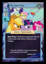 My Little Pony The Hard Way Canterlot Nights CCG Card