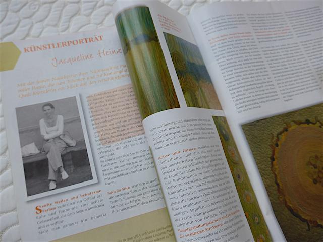 Die Zeitschrift PATCHWORK / Burda erhält ein ausführliches Porträt über die Quilterin Jacqueline Heinz aus dem Jahre 2010