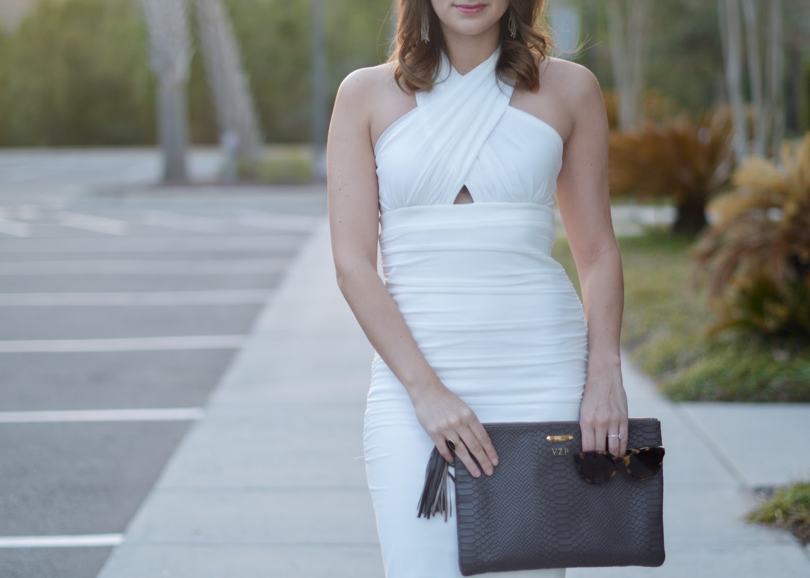 White Engagement Party Dress | Southern Style | a life + style blog