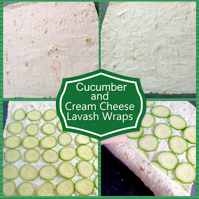 Cucumber and Cream Cheese Lavash Wraps are a SIMPLE snack or lunch you can make in a pinch! - Slice of Southern