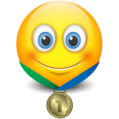 Gold Medal Smiley