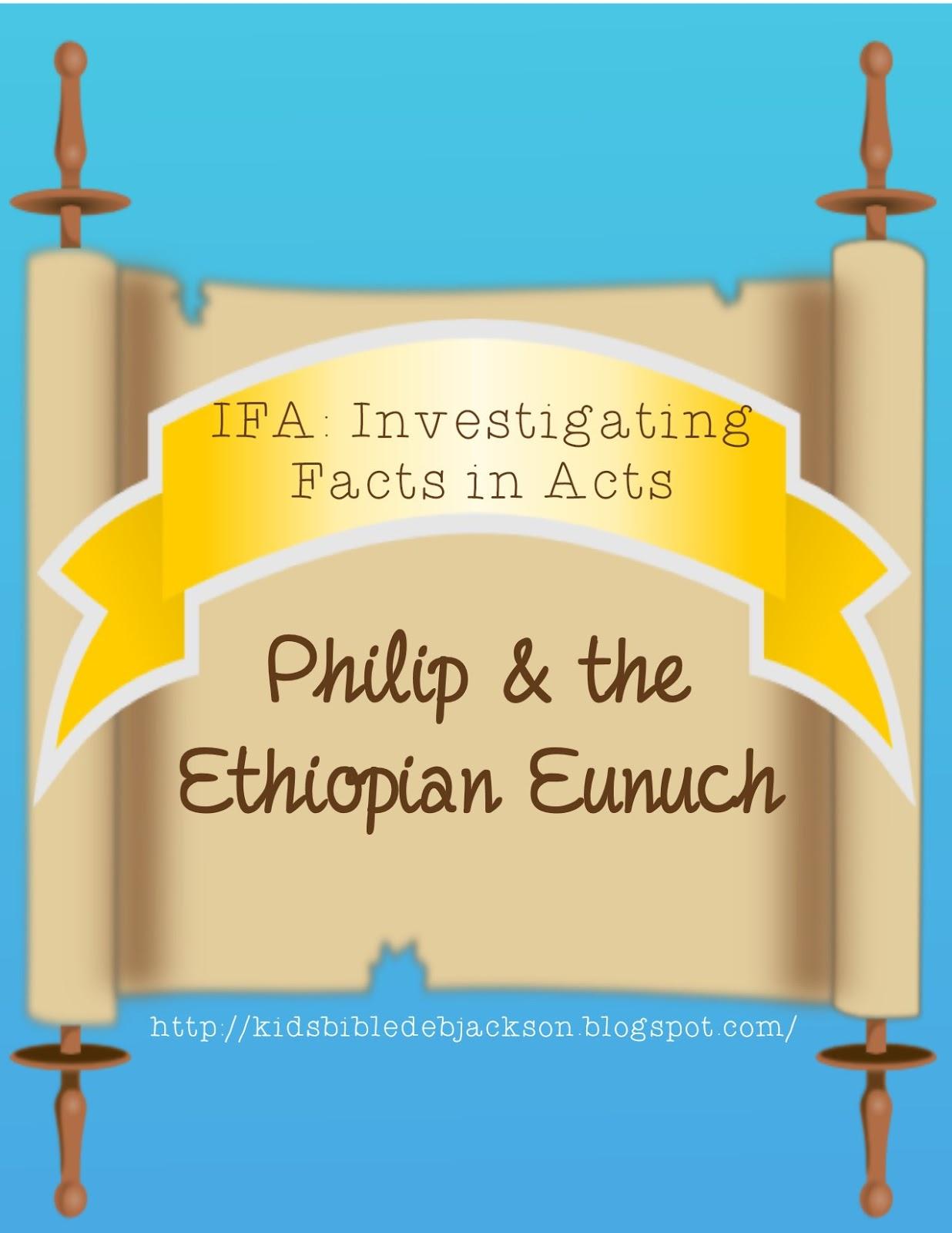 Bible Fun For Kids Philip Amp The Ethiopian Eunuch