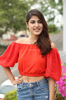 Rhea Chakraborty in Red Crop Top and Denim Shorts Spicy Pics ~  Exclusive 053.JPG