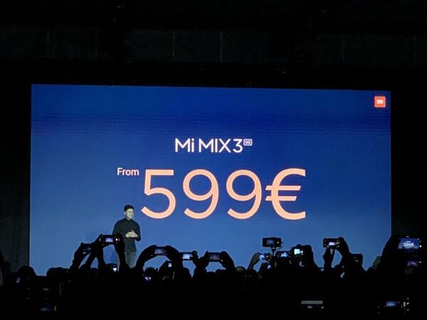 شاومي تعلن رسمياً عن هاتف Xiaomi Mi MIX 3 طراز 5G بسعر 599 يورو