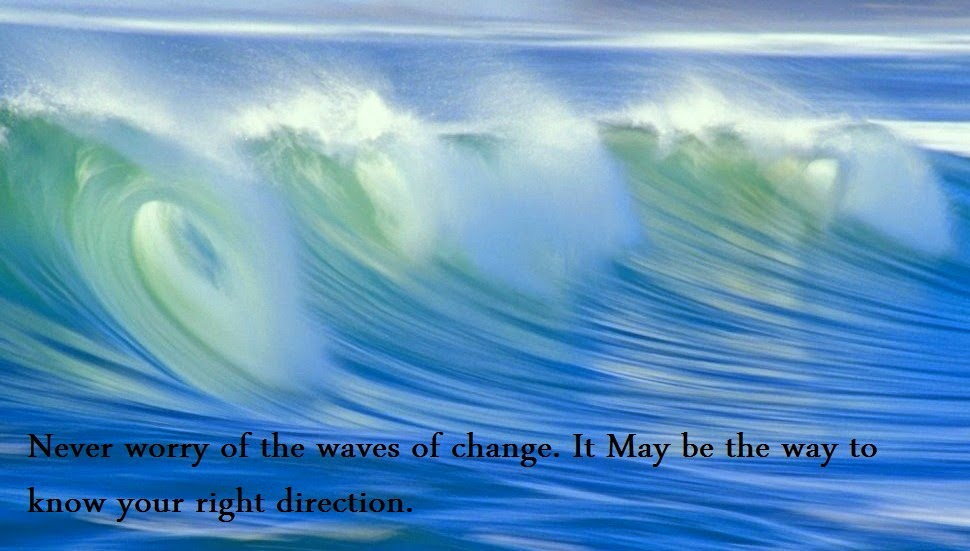 Never Worry Of The Waves Of Change Quotes And Sayings