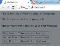 add table row and table data for a table in html for web designing