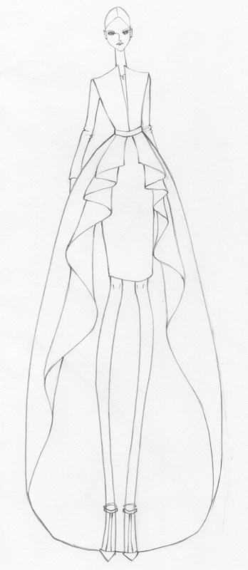 Fashion illustration - fashion design sketches    Milan Zejak - blank fashion design templates
