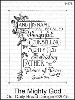 Our Daily Bread Designs Stamp set: The Mighty God
