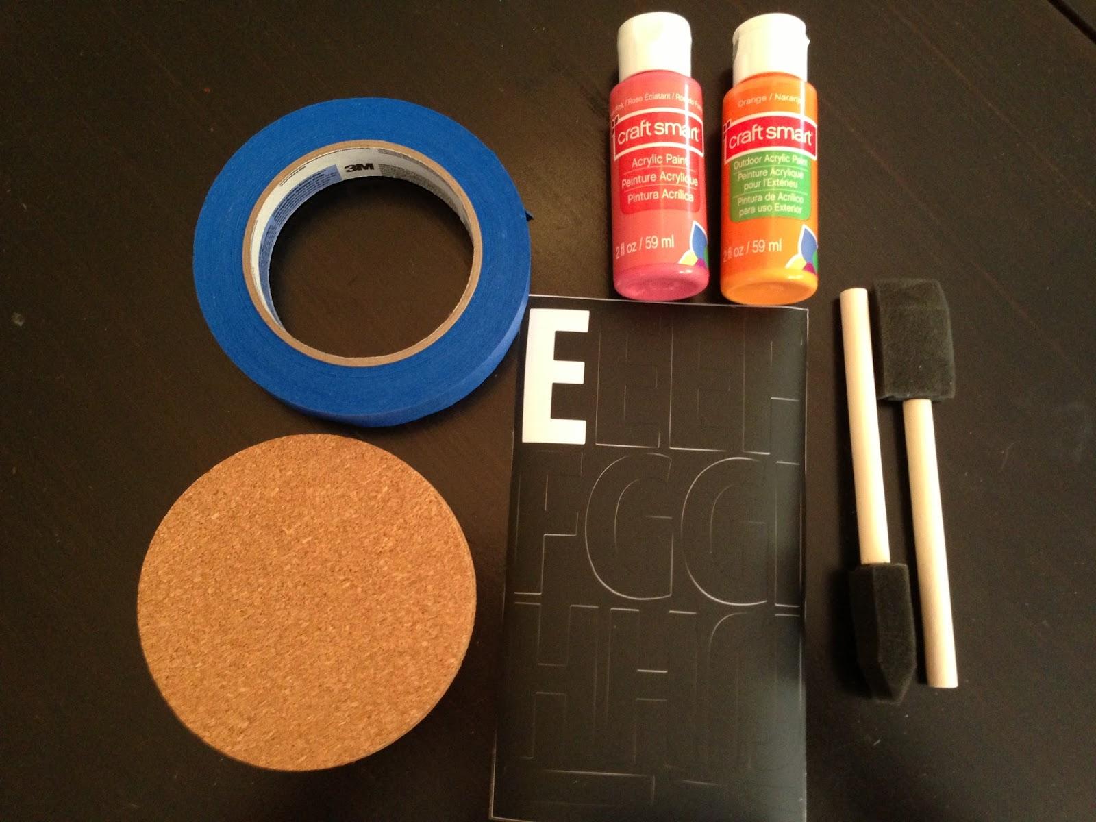 DIY: Cork Coasters - falon loves life