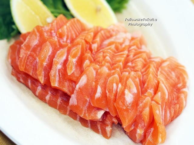 Succulent Freshness Of Salmon Sashimi