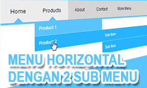 Menu Horizontal Dengan 2 Submenu