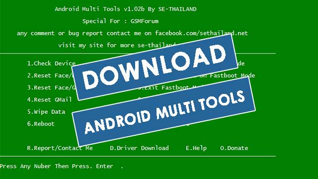 android multi tool fastboot