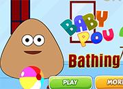 Baby Pou Bathing juego