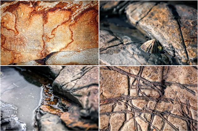 Kimmeridge Bay close up shots of rocks on the Jurassic Heritage Coast