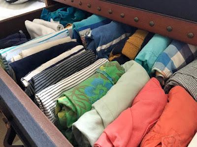 Kon Marie folded clothes