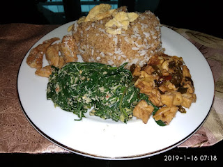 Nasi Tiwul Lengkap