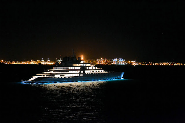 Claiming the title of world's largest yacht, the Azzam is privately owned by the President of the United Arab Emirates.