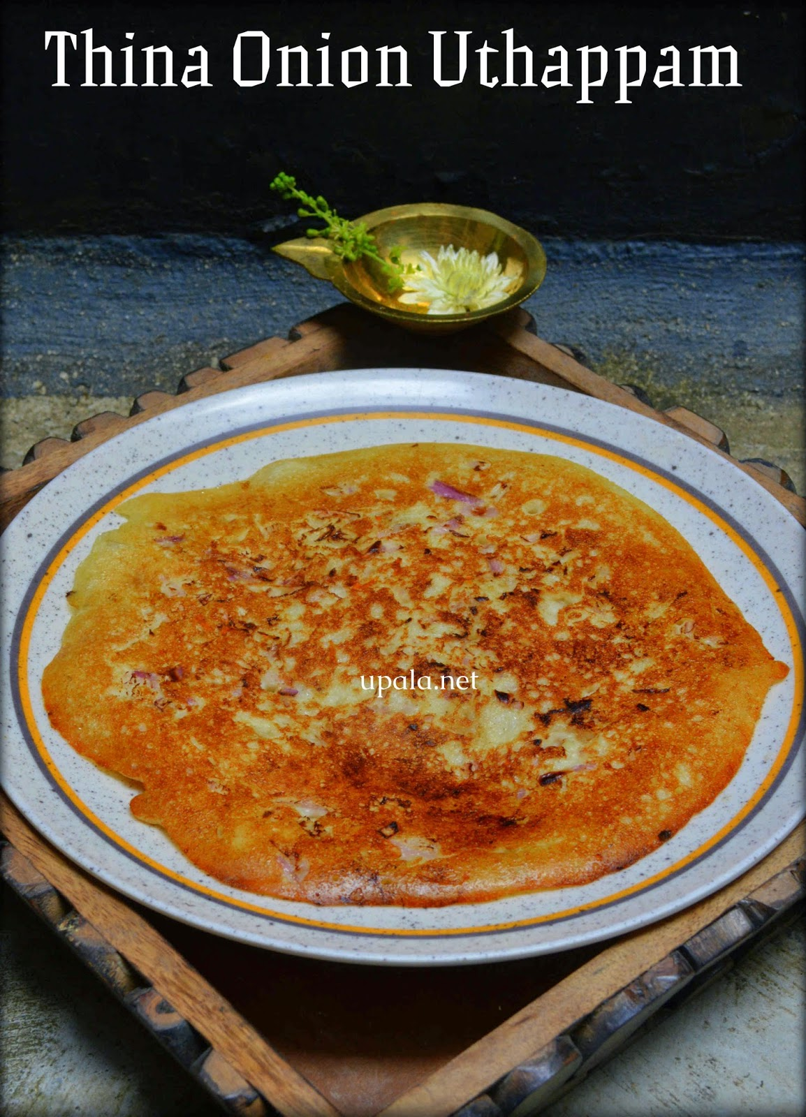 Thinai Onion Uthappam