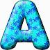 Alfabeto Celeste con Estrellas Azules. .