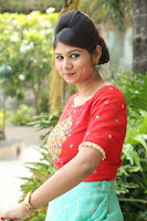 Lucky Shree Looks super cute in Bright Red Green Anarkali Dress ~  Exclusive 042.JPG