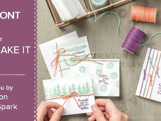 You Can Make It Monday - Waterfront Cards from Stampin' Up!