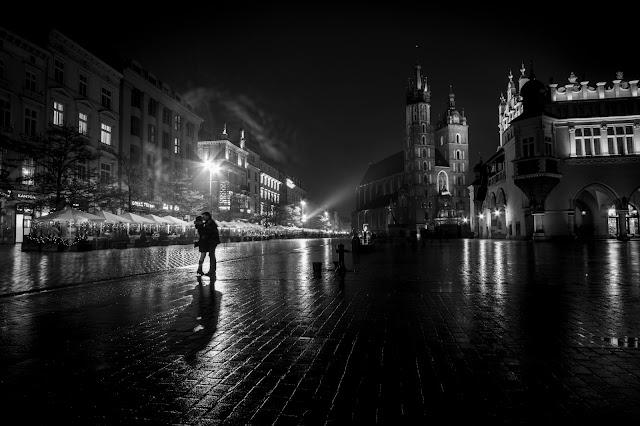 Bacio nel Rynek Glowny-Cracovia
