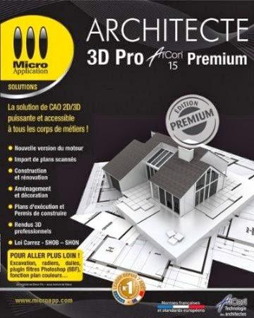 Logiciels Cracked Architecte 3d Pro Arcon 15 Premium