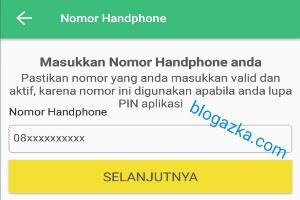 masukkan nomor handphone aktif