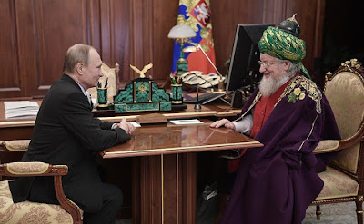 Vladimir Putin and Chairman of Central Spiritual Directorate of Muslims of Russia.