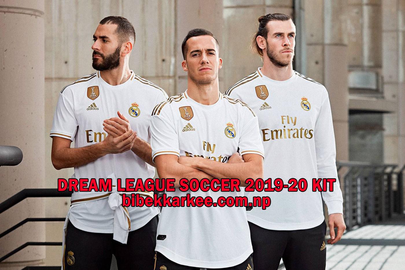 size 40 dcc09 6d835 Real Madrid 2019-20 Dream League Soccer Kit and Logo- La ...