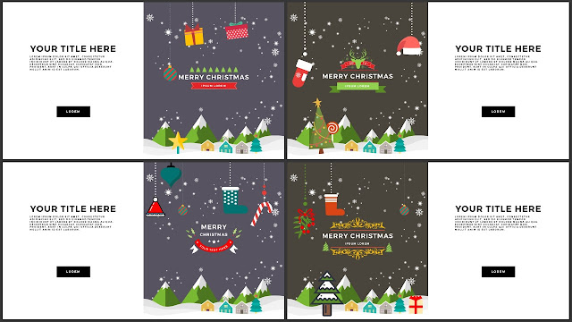 Animated Christmas Free PowerPoint Template Slide 1-4