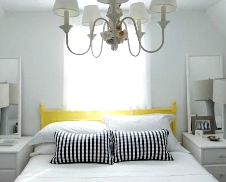 DIY Shell Chandelier in the Bedroom