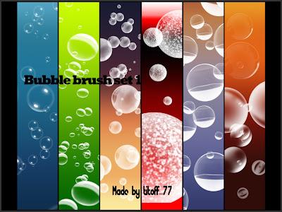 pinceles gratis para photoshop de burbujas