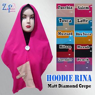 Jilbab Instan Hoodie Rina Dengan Inner Murah