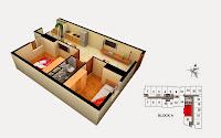 Thiết kế căn 24 25 tòa A chung cư Gemek Tower