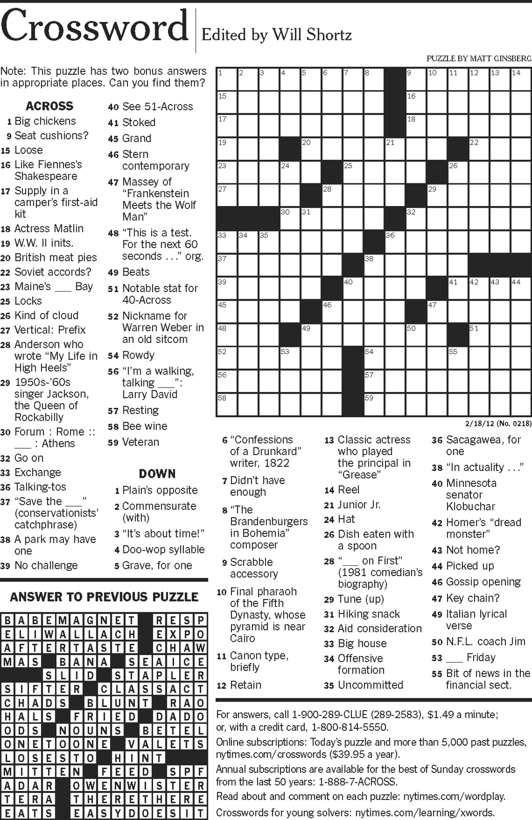 Crossword Puzzles With Mathematical Terms With Answers For