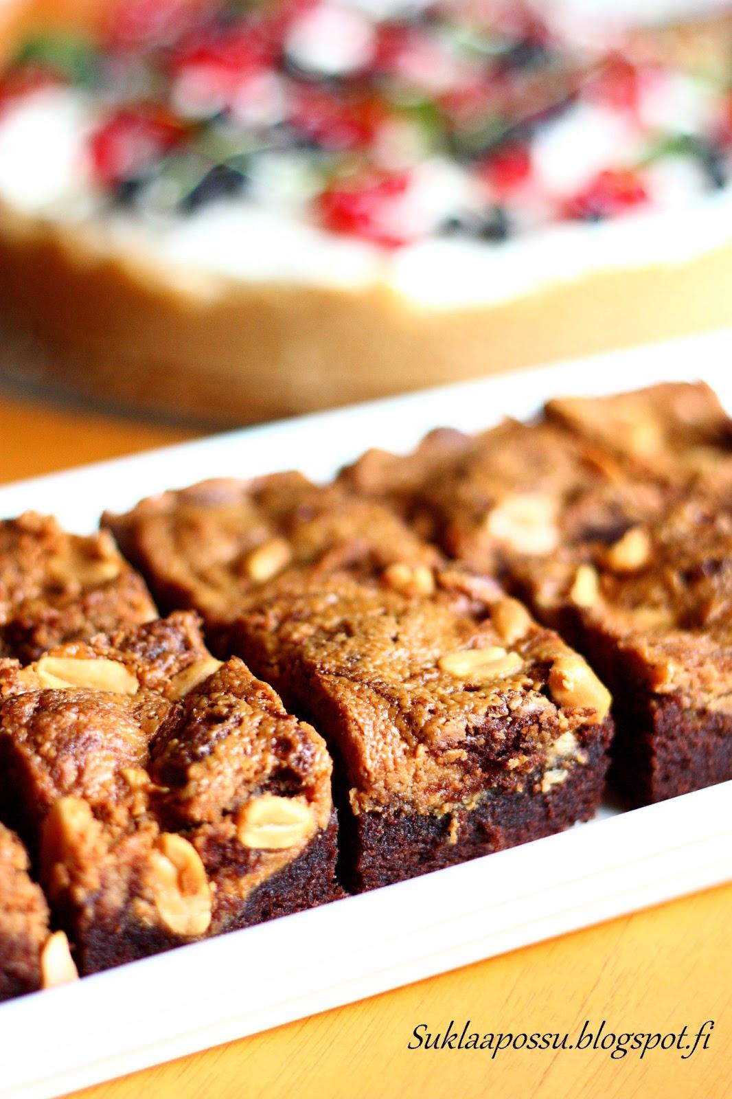 Maapähkinävoi Brownie