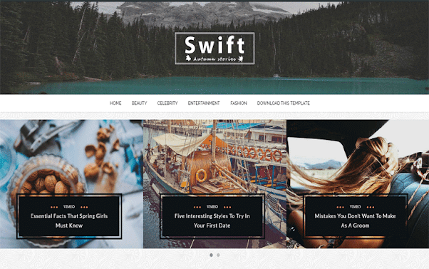 Swift Free Blogger Template