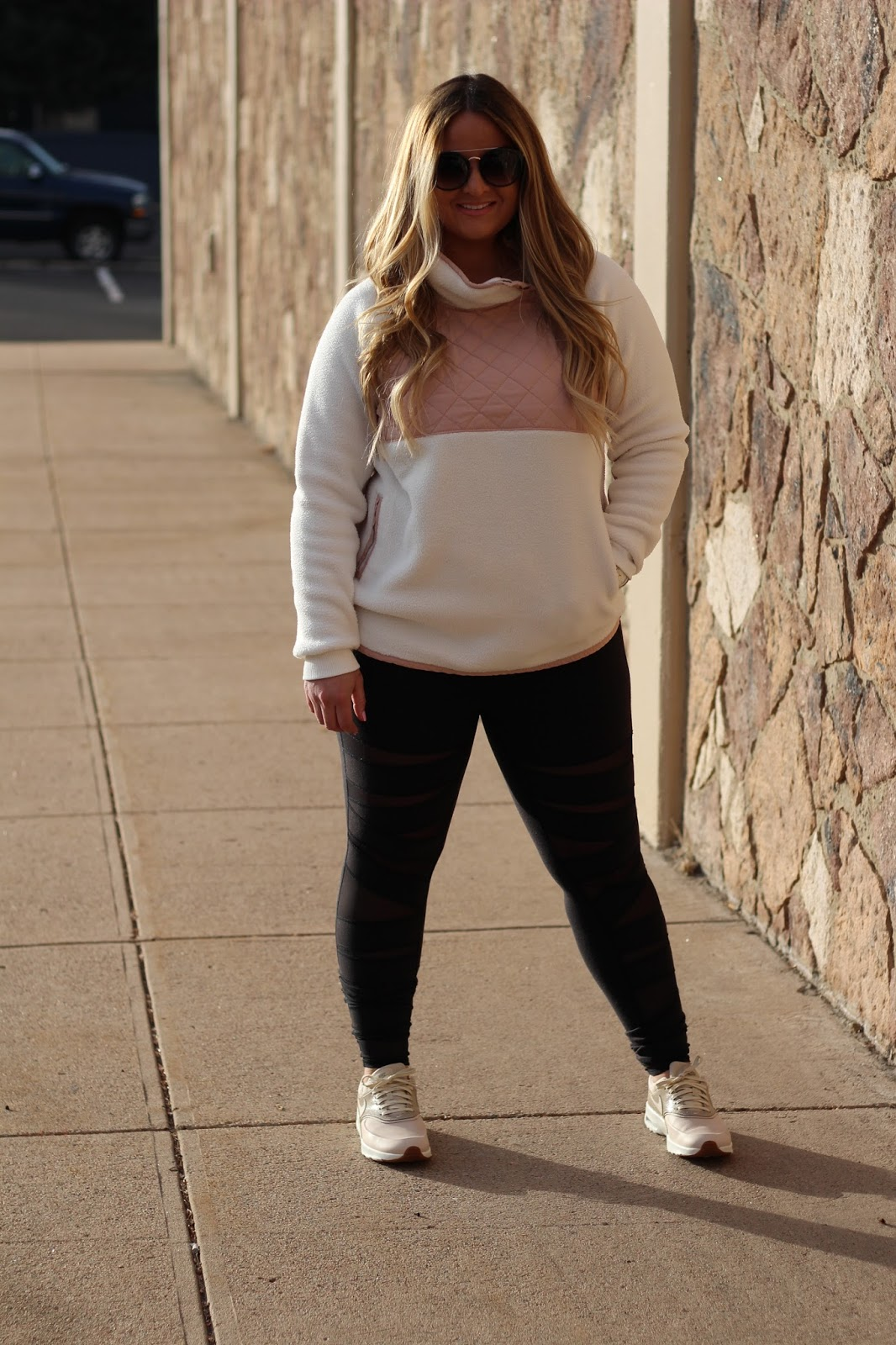 Pink Pullover  by popular Denver fashion blogger Delayna Denaye
