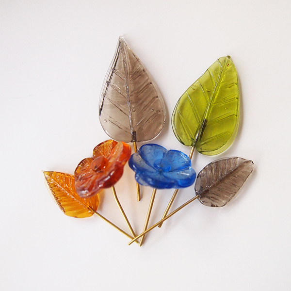 glass leaves luibeads