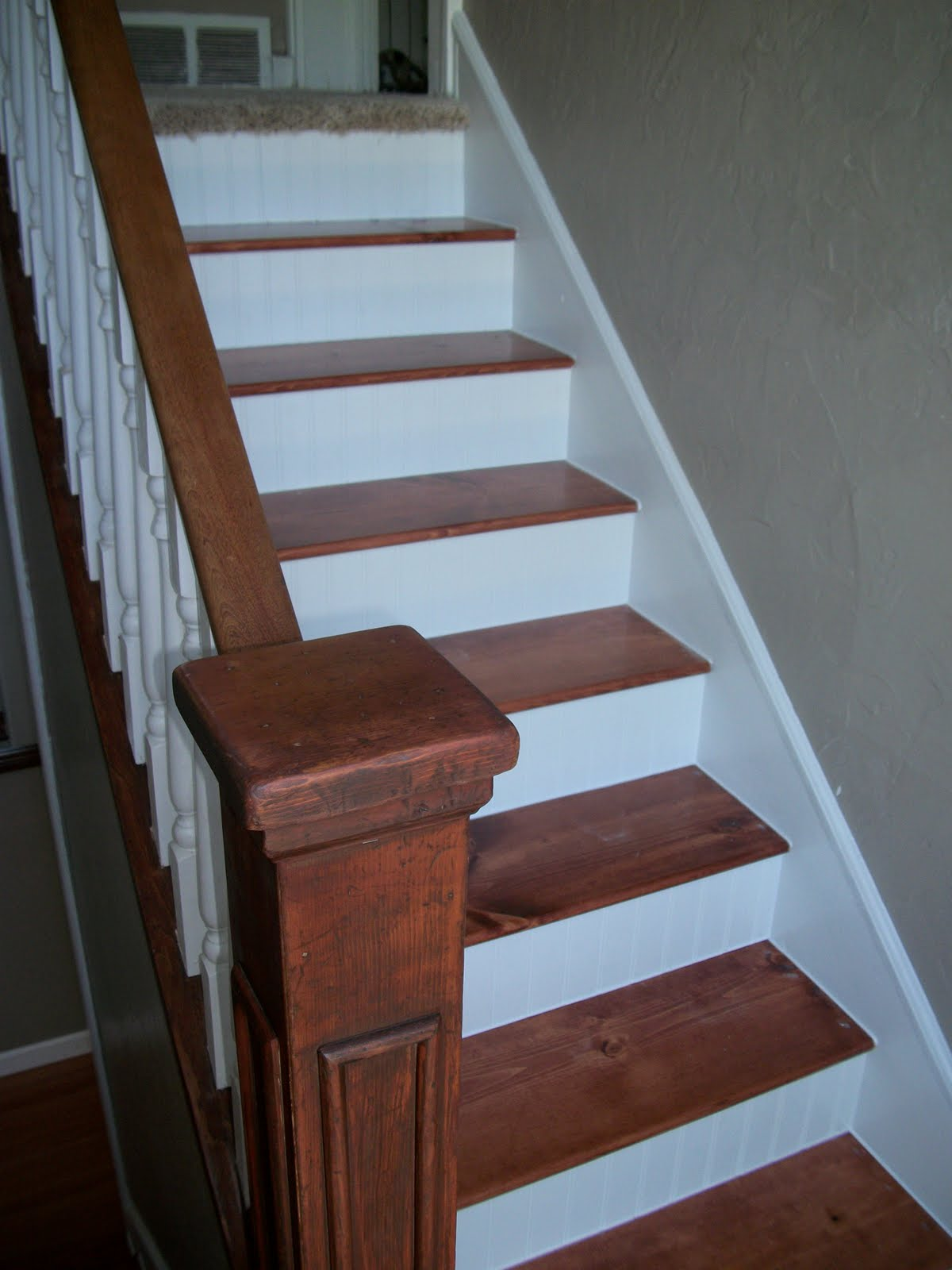 100 Year Old Staircase Makeover Revealed | Redoing Stairs With Wood