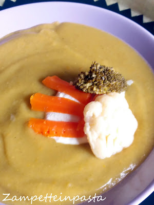 Zuppa di patate, cavolfiore e broccoli