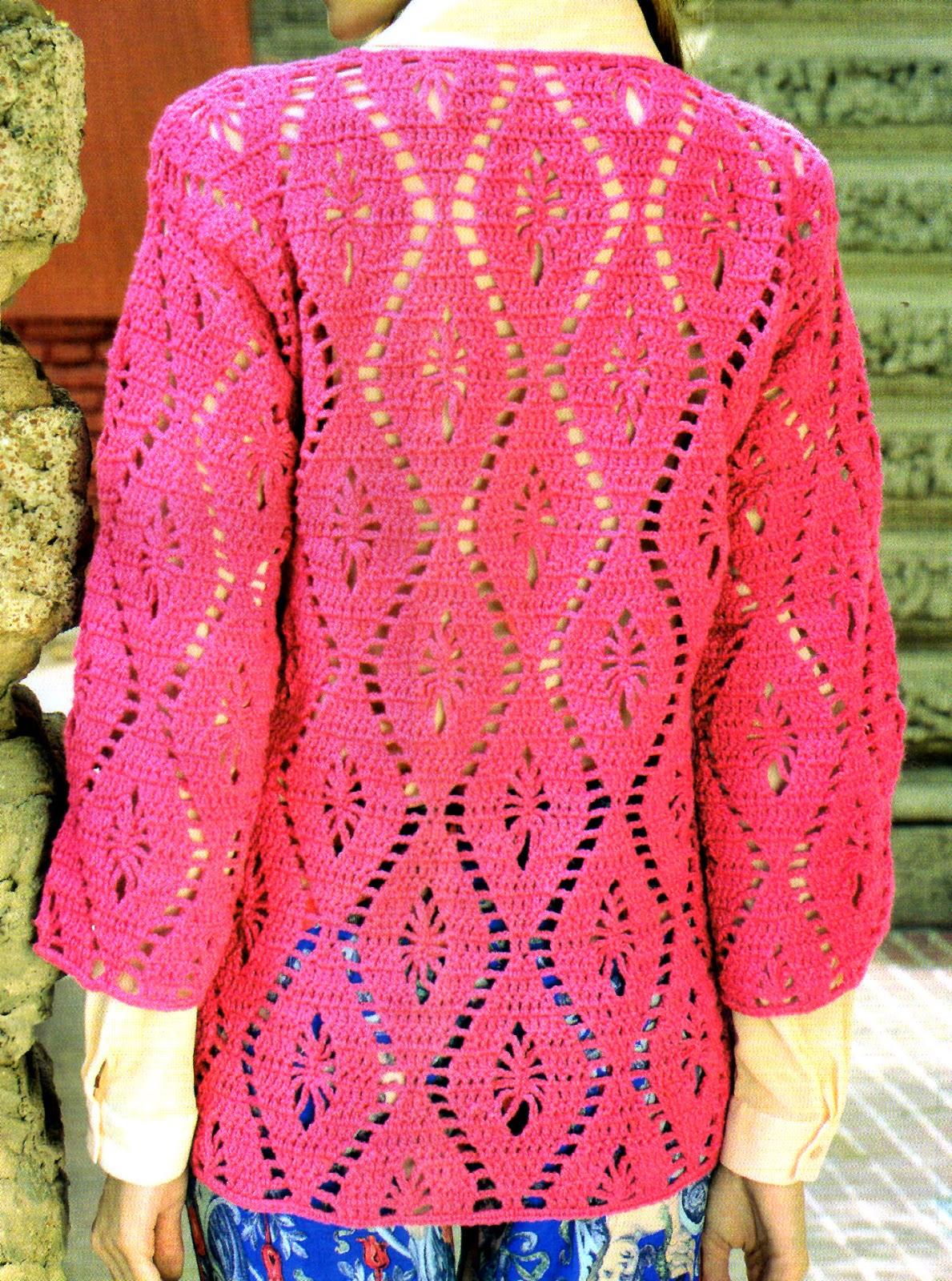 tejidos artesanales en crochet  sueter calado tejido en crochet ... 6ba229965150