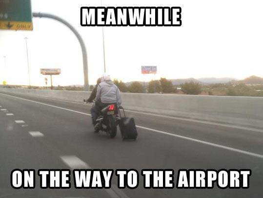 Funny Meanwhile airport photo