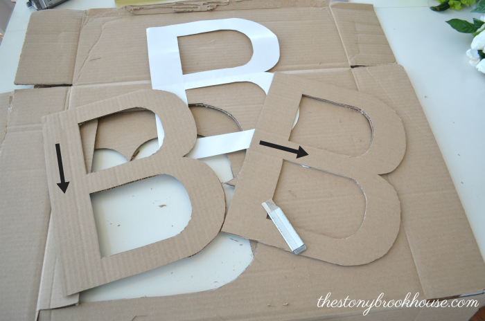Cardboard Letter Cut Out