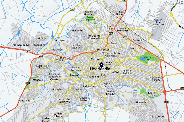 Mapa de Uberlândia