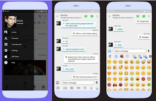 BBM Mod Like iOS V3.3.0.16 Change Bubble Chat and Emoticon iOS Apk