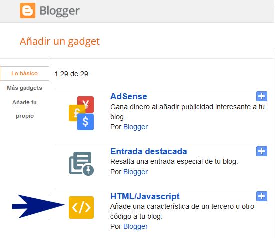 Widget galería de imágenes Material Design para Blogger
